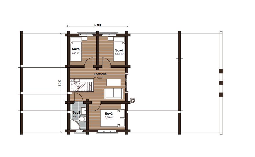 Kompakt hus med mange soverom. Stor st?rrelse stue og kj?kken ...